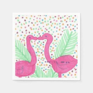 Flamingo Fun Tropical Pattern Paper Napkins
