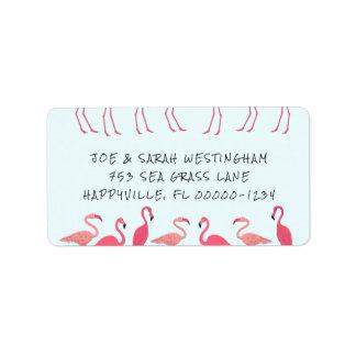 Flamingo Gathering Fun Return Address Labels