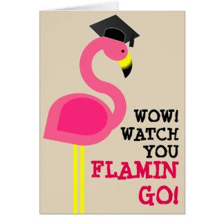 Flamingo Grad Graduation Card