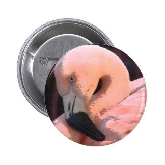flamingo head 2 inch round button