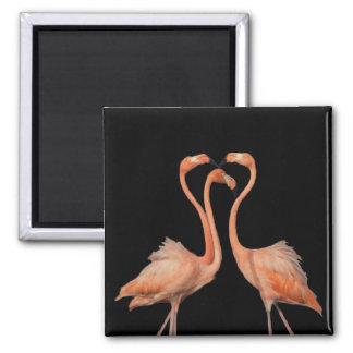 Flamingo heart 02 magnet