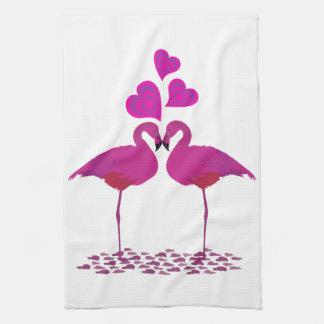 Flamingo_Heart Kitchen Towel