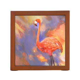 Flamingo in Clouds Pencil Holder