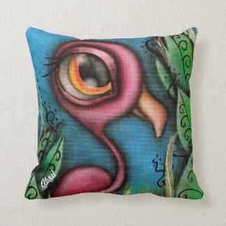Flamingo in Garden Pillow