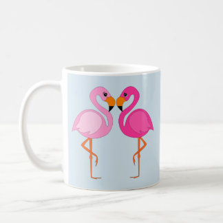 Flamingo in love baby blue summer mug
