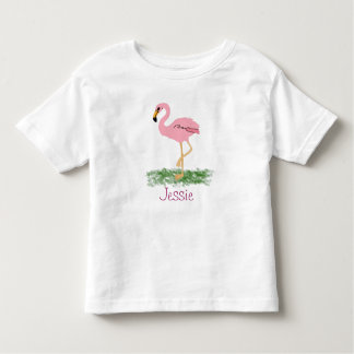 Flamingo In The Grass Personalized Toddler T-shirt
