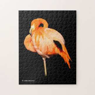 Flamingo in the Summer Sun Jigsaw Puzzle