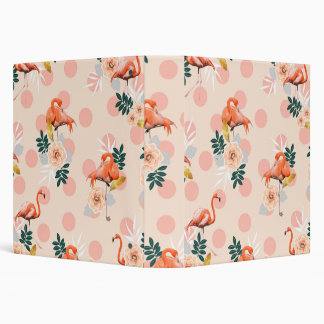 Flamingo Jazz 3 Ring Binders