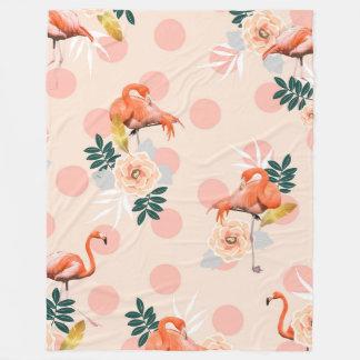Flamingo Jazz Fleece Blanket