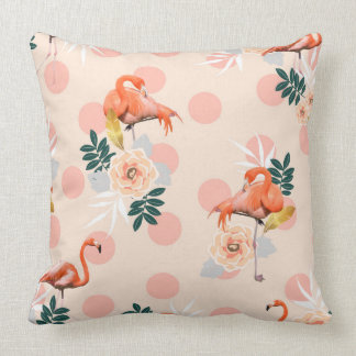 Flamingo Jazz Throw Pillow