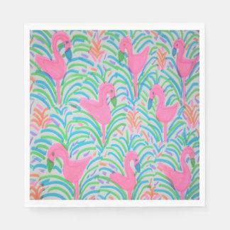 Flamingo Jungle Party Paper Napkins