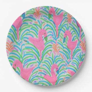 Flamingo Jungle Party Paper Plates