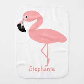 Flamingo Just Add Name Burp Cloth