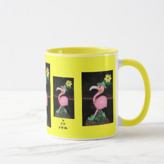 flamingo lady mug