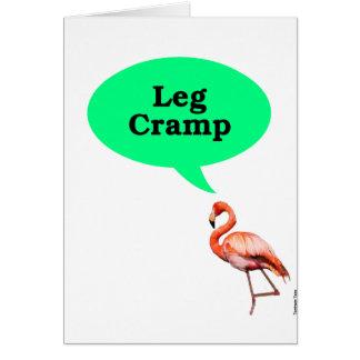 Flamingo Leg Cramp Card