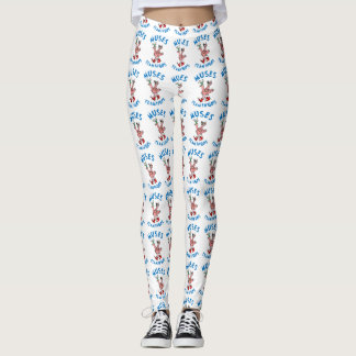 Flamingo Leggings - Large logo