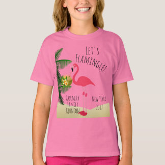 Flamingo Let's Flamingle Family Reunion Girls T-Shirt