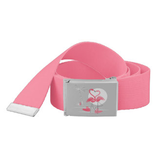Flamingo Love belt hot pink