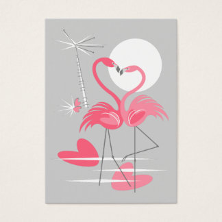 Flamingo love business card mighty vertical
