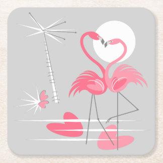 Flamingo Love coaster square