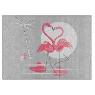 Flamingo Love cutting board
