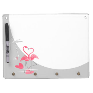 Flamingo Love dry erase board keychain