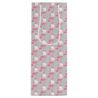 Flamingo Love gift bag wine tiled