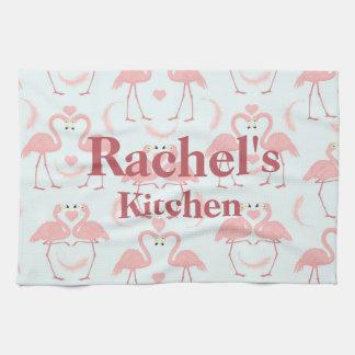 Flamingo Love Kitchen Towel