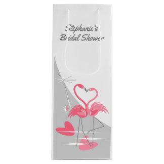 Flamingo Love Large Moon Bridal Shower wine Wine Gift Bag