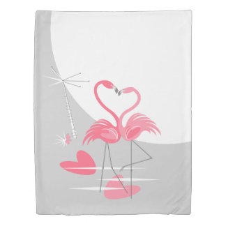 Flamingo Love Large Moon duvet cover twin