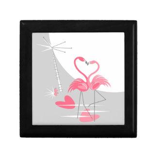 Flamingo Love Large Moon gift box black
