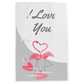 Flamingo Love Large Moon I Love You medium Medium Gift Bag