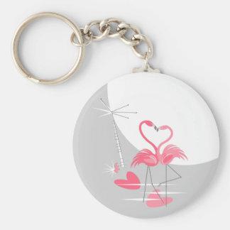 Flamingo Love Large Moon keychain basic