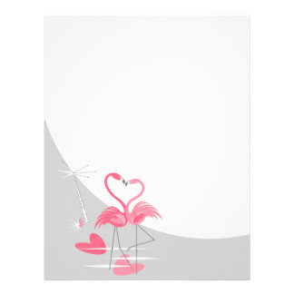 Flamingo Love Large Moon letterhead