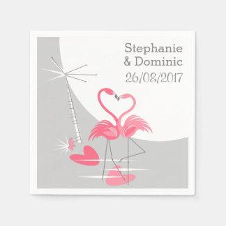 Flamingo Love Large Moon Names Date paper napkins