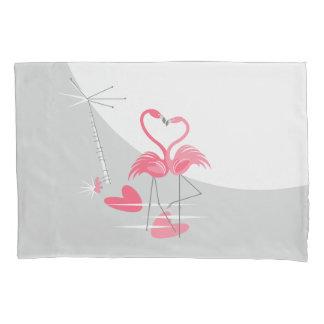Flamingo Love Large Moon pillowcase