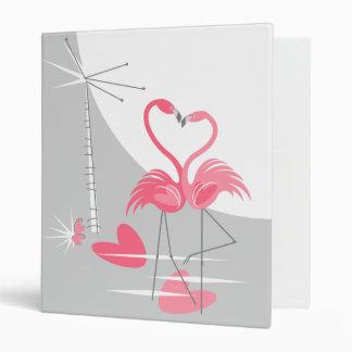 Flamingo Love Large Moon ring binder