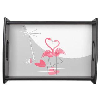 Flamingo Love Large Moon serving tray