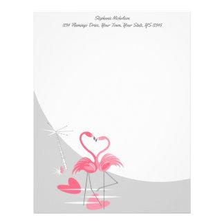 Flamingo Love Large Moon Text letterhead