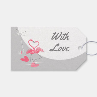 Flamingo Love Large Moon With Love landscape Gift Tags