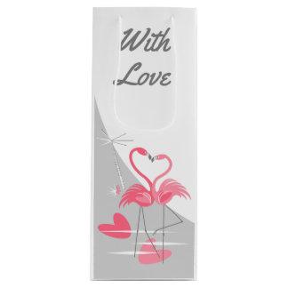 Flamingo Love Large Moon With Love wine Wine Gift Bag