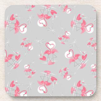 Flamingo Love Multi coaster cork back