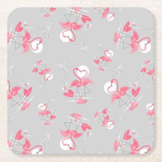 Flamingo Love Multi coaster square