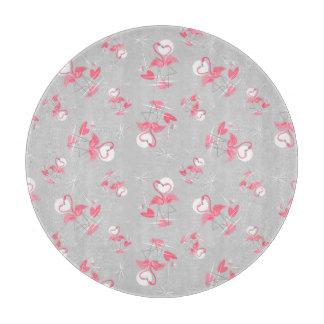 Flamingo Love Multi cutting board round