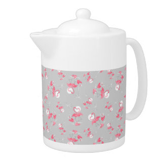Flamingo Love Multi teapot medium