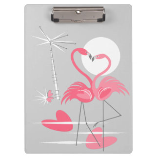 Flamingo Love Name clipboard