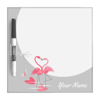 Flamingo Love Name dry erase board square