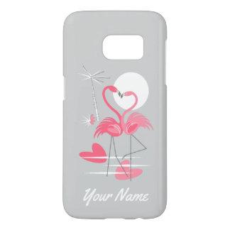 Flamingo Love Name Samsung Galaxy S7 case