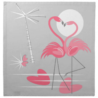 Flamingo Love napkin cloth