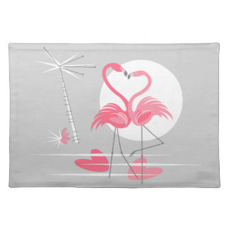 Flamingo Love placemat cloth
